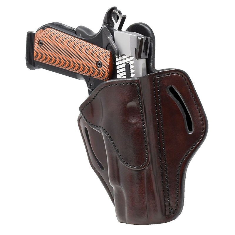 1791 Gunleather Open Top Multi-Fit OWB Belt Holster for Full Size 1911 Semi Auto Models Right Hand Draw Leather Signature Brown