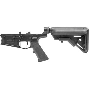 New Frontier C-10 AR-308 Complete Lower Receiver Assembly .308 Win/7.62 NATO Multi-Caliber Marked Billet Aluminum Standard LPK B5 Collapsible Stock Black