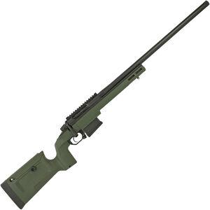 "Seekins Precision HAVAK Bravo 6.5 Creedmoor Bolt Action Rifle 24"" Barrel 20 MOA Rail Green KRG Bravo Chassis Matte Armor-Blak Finish"