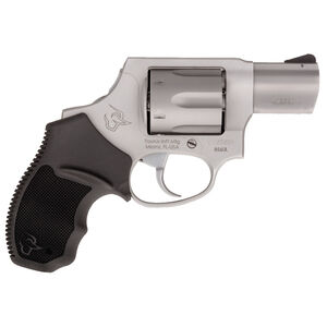 """Taurus 856 Concealed Hammer .38 Special +P Double Action Revolver 2"""" Barrel 6 Rounds Rubber Grips Matte Stainless Steel Finish"""