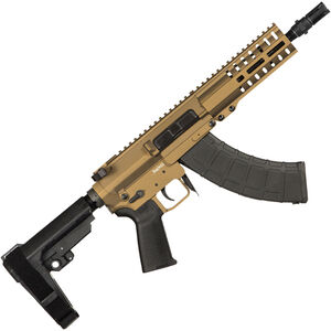 "CMMG Banshee 300 Mk47 7.62x39mm AR-15 Semi Auto Pistol 8"" Barrel 30 Round AK-47 Magazine RML6 M-LOK Handguard CMMG Standard RipBrace Burnt Bronze Finish"