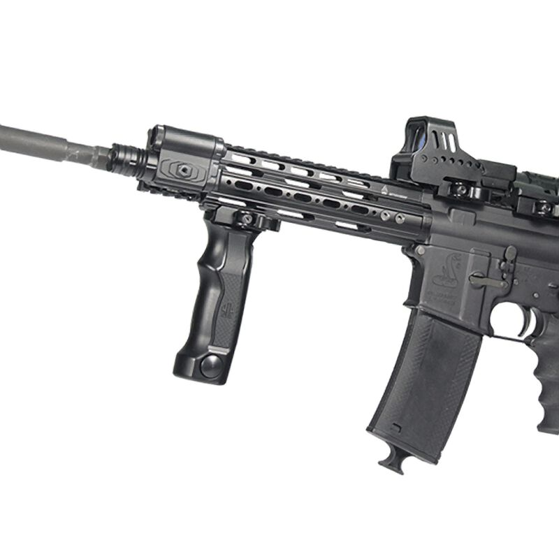 Leapers UTG Combat D Grip with Quick Release Deployable Bipod Aluminum Black MNT-DG01Q