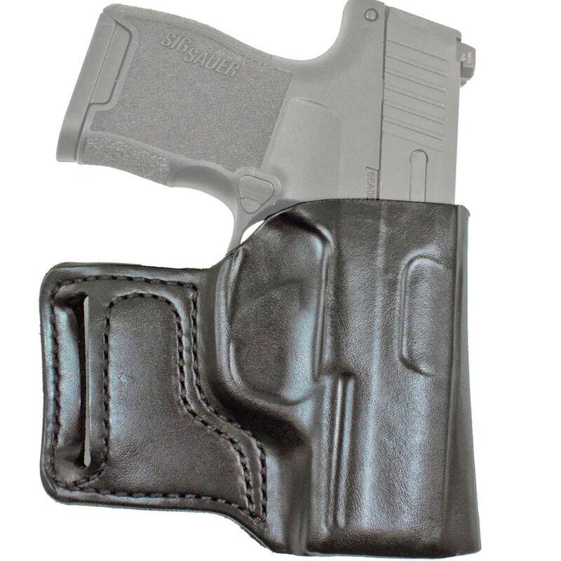 DeSantis E-Gat Slide Belt Holster Fits SIG P938/Kimber Micro 9mm Right Hand Leather Black