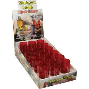 River's Edge Products Shotshell Shotglasses Plastic Red 18 Pack
