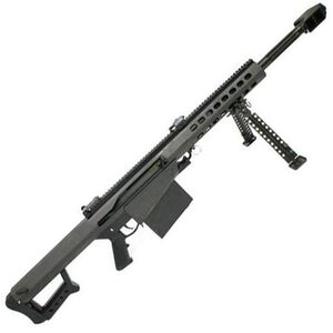 "Barrett M82A1 Semi Auto Rifle .50 BMG 20"" Fluted Barrel 10 Rounds Flip Up Iron Sights Lightweight Quick Detach Bipod Arrowhead Muzzle Brake Manganese Phosphate Finish"