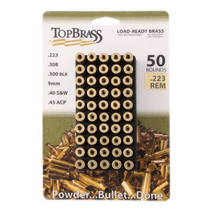 Top Brass .223 Remington Reconditioned Brass 50 Count with Tray