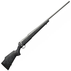 Weatherby Mark V Weathermark Bolt Action Rifle .257 Wby Mag 3 Rounds Black Synthetic Stock with Spider Web Accents Cerakote Grey Finish