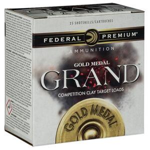 """Federal Gold Medal Grand Paper 12 Gauge Ammunition 25 Rounds 2-3/4"""" #8 Size 1-1/8oz Lead Shot 1200fps"""