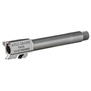 "Apex Tactical Apex Grade Drop-In Threaded Replacement Barrel 4.25"" S&W M&P Full Size 9mm Luger Threaded 1/2x28 Stainless Steel Natural Finish"