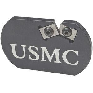 Redi-Edge USMC Challenge Coin Knife Sharpener Duromite Blades Anodized Aluminum Body