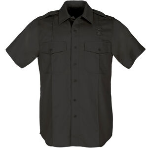 5.11 Tactical Class A Women's PDU Short Sleeve Shirt Polyester Cotton Twill Medium Black 61158
