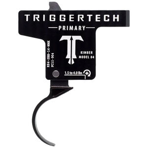 TriggerTech Kimber Model 84 Primary Adjustable Single-Stage Drop-In Curved Trigger 1.5 lbs to 4.0 lbs Black PVD Finish