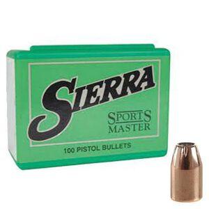 "Sierra .38 Caliber .357"" Diameter Sports Master JHP 140 Grain Bullets 100 Pack"