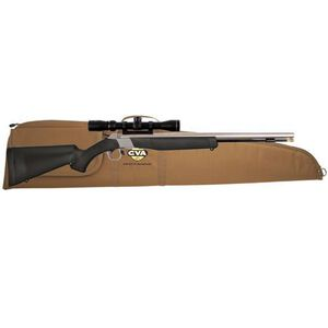 "CVA Wolf Muzzleloader Rifle with KonusPro 3-9×32 Scope and Case Combo Break Action In-Line .50 Caliber 209 Primer Ignition 24"" SS Barrel Composite Stock Black"