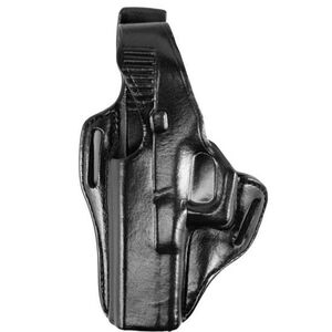 """Bianchi #56 Serpent Holster SZ16 Springfield XD 9mm/.40 (4"""") Right Hand Plain Black Leather"""
