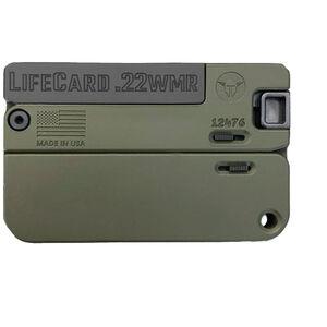 "Trailblazer Firearms LifeCard .22 WMR Break Action Handgun 2.5"" Barrel 1 Round Anodized Aluminum Olive Drab Green Finish"