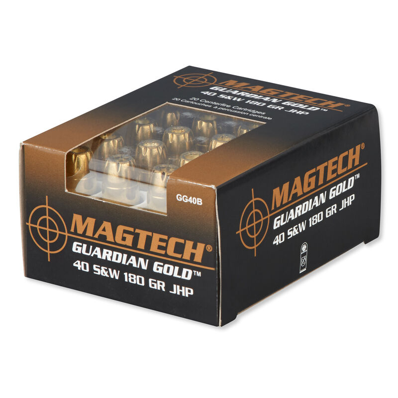 Magtech Guardian Gold .40 S&W Ammunition 1000 Rounds JHP 180 Grains GG40B