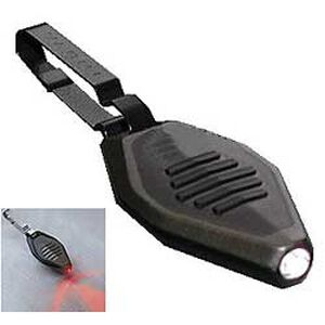 Nite Ize RADIANT Microlight Key Chain Zipper Light Red LED, Black Body