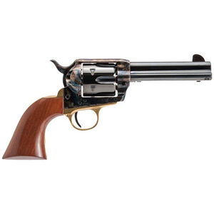 "Cimarron Pistolero Revolver 45 LC 4.75"" Barrel 6 Rounds Case Hardened Frame Walnut Grip Blued"