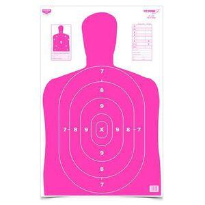 """Birchwood Casey Eze-Scorer 23.00""""x35"""" BC-27 Pink Paper Target Indoor/Outdoor 5 Pack 37039"""