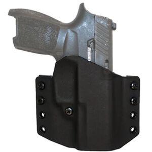 """Comp-Tac Warrior Holster SIG Sauer P320/P250 Full Sized 9mm/40 OWB Belt Slide Right Hand 1.5"""" Belt Loops Kydex Black"""