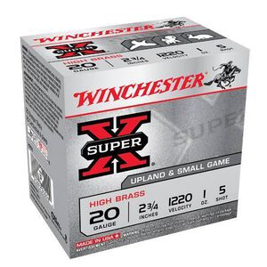 "Winchester Super-X 20 Ga 2.75"" #5 Lead 1oz 25 Rounds"