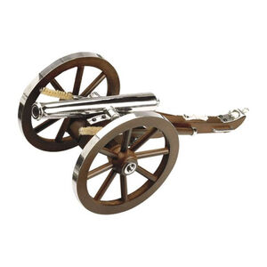 """Traditions Mini Napoleon III Black Powder Cannon .50 Cal 7.25"""" Barrel Wooden Carriage Metal Rimmed Wheels Stainless Steel CN8021"""