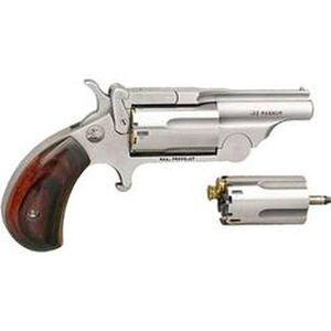 "North American Arms Ranger II .22 LR/.22 WMR Break Open Mini Revolver 1.625"" Barrel 5 Rounds Rosewood Bird's Head Grips Stainless Frame Finish"