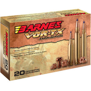 Barnes VOR-TX 6.5 Creedmoor Ammunition 20 Rounds 120 Grain Barnes Tipped TSX Boat Tail Lead Free Projectile