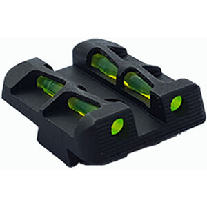HiViz LiteWave Fiber Optic Rear Sight SIG Sauer P Series Pistols with #8 Rear Sight Height Black SGLW18