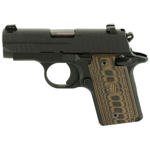 "SIG Sauer P238 Select Semi Auto Pistol .380ACP 2.7"" Barrel 7 Rounds SIGLite Sights Custom G10 Grips Stainless Steel Slide/Alloy Frame Nitron Black Finish"