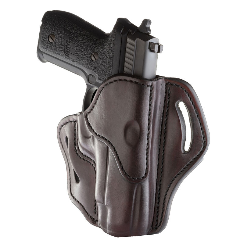 1791 Gunleather Open Top Multi-Fit 2.3 OWB Belt Holster for Full Size Semi Auto Models Right Hand Draw Leather Signature Brown