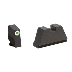 Ameriglo 3XL Tall Sight Set for GLOCK Green Tritium Front Dot with White Outline and Flat Black Rear