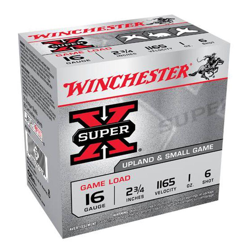 """Winchester Super-X 16 ga 2-3/4"""" #6 Shot 1oz 25 Round Box"""