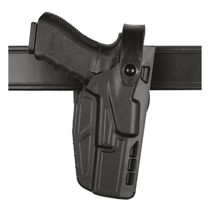 Safariland Model 7280 7TS SLS Mid-Ride Duty Belt Holster Right Hand Fits SIG Compact P250/P320 SafariSeven Black