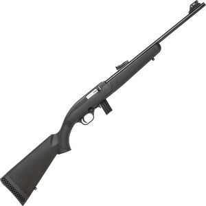 "Mossberg 702 Plinkster Semi Auto Rimfire Rifle .22 LR 18"" Barrel 10 Rounds FO Sights Synthetic Stock Black"