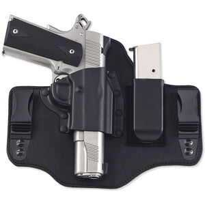 Galco KingTuk2 GLOCK 17/19/26/22/23/27/31/32/33 IWB Holster Tuckable Right Hand Leather/Kydex Black KT2-224B