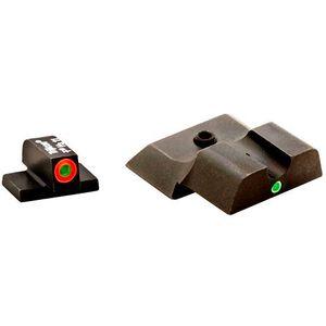 AmeriGlo S&W M&P Shield Pro i-dot Tritium Night Sights Green Single Dot Rear Green with Orange Outline Front SW-245