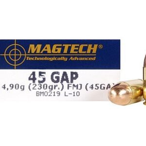 Magtech .45 GAP Ammunition 50 Rounds FMJ 230 Grains 45GA