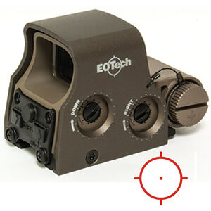 EOTech XPS2-0 Holographic Weapon Sight 65 MOA Circle and 1 MOA Dot Non Night Vision Compatible CR123 Battery Weaver/Picatinny Tan XPS2-0TAN