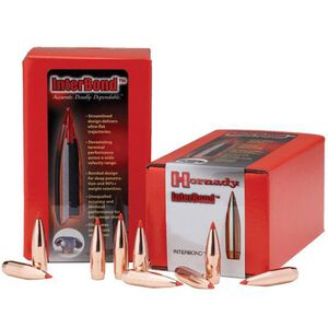 "Hornady 7mm Caliber .284"" Diameter 139 Grain InterLock Soft Point Cannelured Bullet 100 Count 2820"