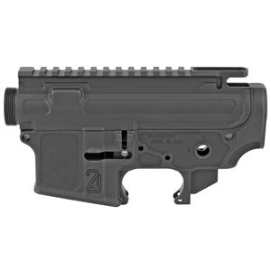 2A Armament Palouse-Lite AR-15 Stripped Receiver Set Forged from 7075-T6 Aluminum Hard Coat Anodized Matte Black