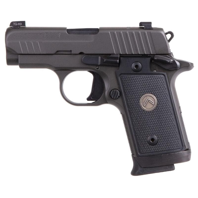 "SIG Sauer P238 Legion Micro-Compact Semi Auto Pistol .380 ACP 2.7"" Barrel 7 Rounds Night Sights Custom Grips Cerakote Elite Legion Gray Finish"