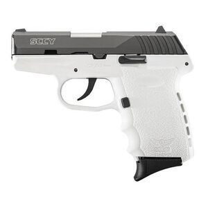 "SCCY Industries CPX-2 Semi Auto Pistol 9mm Luger 3.1"" Barrel 10 Rounds White Polymer Frame Black Slide CPX-2CBWT"