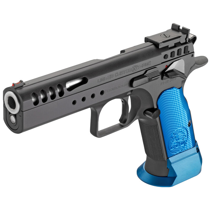 EAA Witness Limited Xtreme 2 Semi Automatic Handgun 40 S&W 14 Rounds Black Finish Blue Grips
