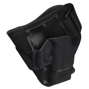 """Fobus Ankle Holster Right Hand Black 3.25"""" Fits Glock 26,27,33 GL26A"""