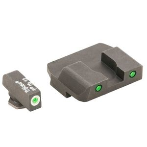 AmeriGlo GLOCK 10mm and .45ACP Operator Pro Night Sights Green Tritium With White Front Sight Outline and Black Rear Outline GL-223-OP
