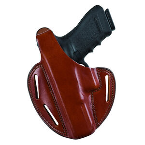 Bianchi Model 7 Shadow II Belt Holster Left Hand GLOCK 19 23 Leather Tan