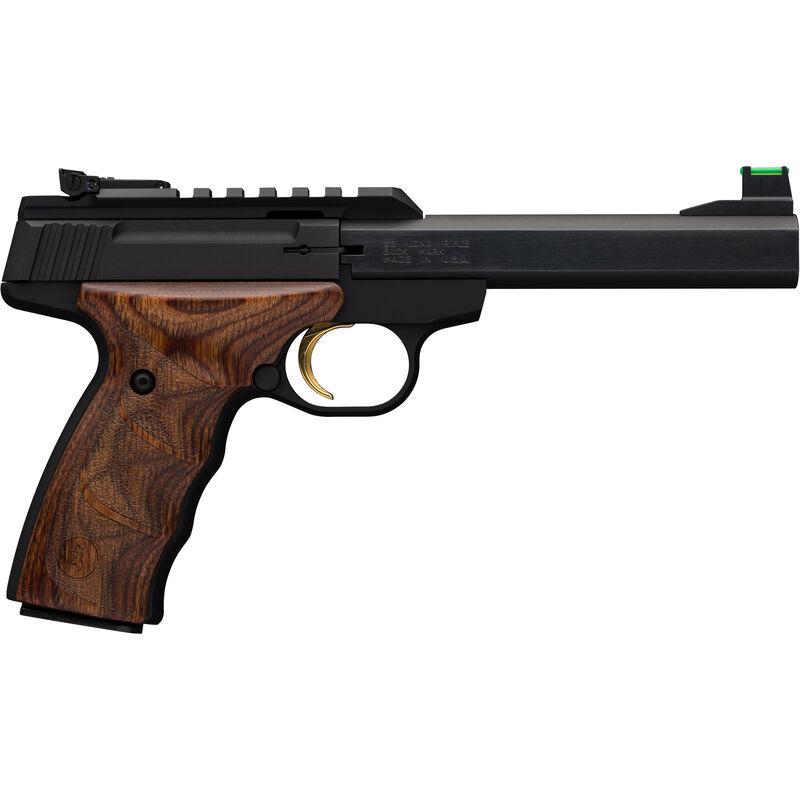 "Browning Buckmark Plus UDX Semi Auto Rimfire Pistol .22 LR 5.5"" Barrel 10 Rounds Aluminum Alloy Frame Wood UDX Grips Black Finish"