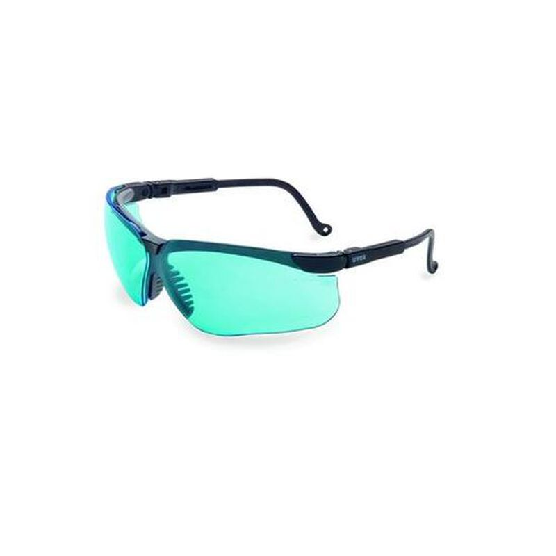 Uvex Genesis Dura Extreme Safety Glasses Blue Lenses Spatula Temples Black S3211X
